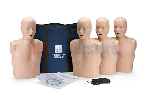 Prestan Manikin Medium Skin Tone Adult 4-Pack with CPR Monitor