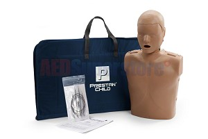Prestan Child Dark Skin Manikin Single without CPR Monitor