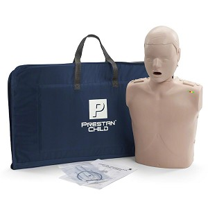 Prestan Child Medium Skin Manikin Single with CPR Monitor
