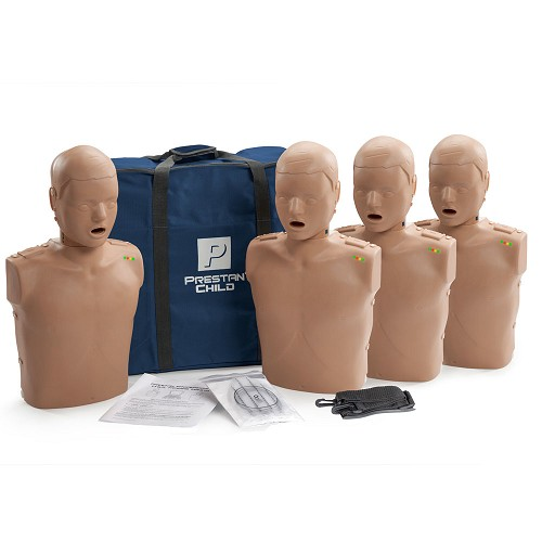 Prestan Child Dark Skin Manikin 4-Pack with CPR Monitor