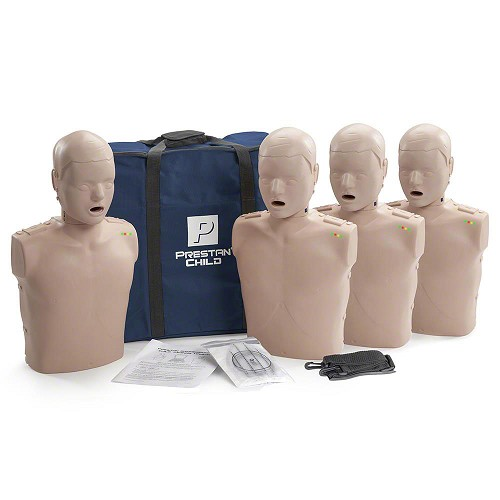 Prestan Child Medium Skin Manikin 4-Pack with CPR Monitor