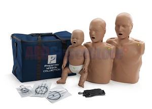 Prestan Collection Dark Skin Manikins with CPR Monitor