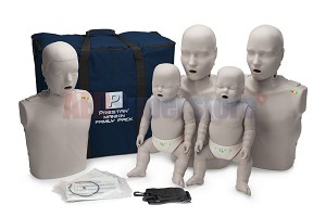 Prestan Manikin Professional Light Skin Family Pack with CPR Monitor
