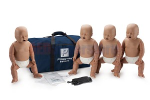 Prestan Infant Dark Skin Manikin 4-Pack without CPR Monitor