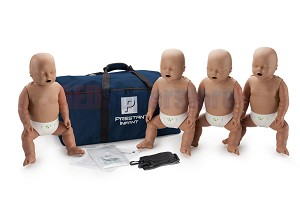 Prestan Infant Dark Skin Manikin 4-Pack with CPR Monitor