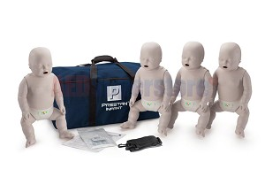Prestan Infant Light Skin Manikin 4-Pack with CPR Monitor