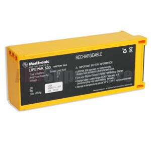 Physio-Control LIFEPAK® 500 Replacement RECHARGEABLE AED Battery