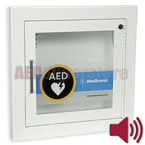 Physio-Control AED Cabinet Recessed-Mount Fire Rated with Audible Alarm