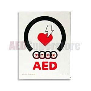 Physio-Control AED Wall Placard