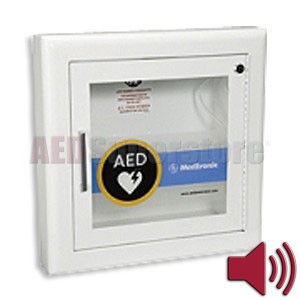 Physio-Control AED Cabinet Semi-Recessed with Alarm
