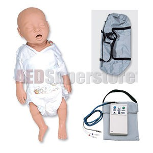 Simulaids CPR Preemie Infant Basic w/Carry Bag w/Electronics