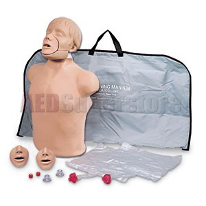 Simulaids JT (Jaw Thrust) Brad Manikin w/Carry Bag