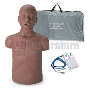 Simulaids Paul African-American CPR Manikin w/Electronics & Carry Bag