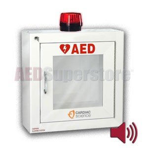 Cardiac Science Standard Size AED Cabinet with Audible Alarm and Strobe Light