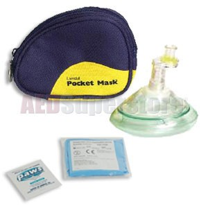 Laerdal Pocket Mask w/Gloves and Wipe in Blue Soft Pack