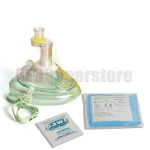 Laerdal Pocket Mask w/Oxygen Inlet & Head Strap in Re-sealable Poly Bag