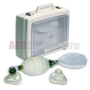 Laerdal LSR Reusable Adult Complete Resuscitator with Display Case