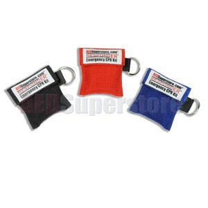 RespondER® CPR Kit Keychain with Nitrile Gloves