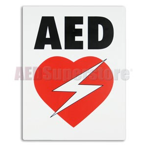 AED Flat Wall Sign for Resale