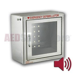 Compact Size Stainless Steel AED Cabinet with Audible Alarm