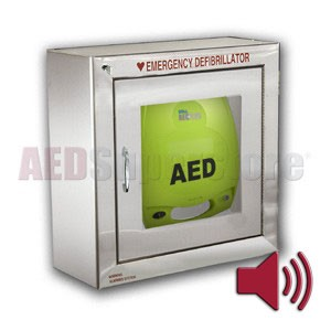ZOLL® AED Plus® Standard Size Stainless Steel Cabinet with Audible Alarm