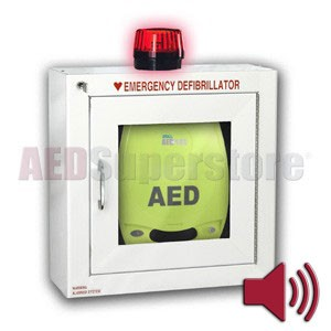 ZOLL® AED Plus® Standard Size Cabinet with Audible Alarm and Strobe Light