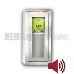 ZOLL® AED Plus® Tall Stainless Steel Cabinet with Audible Alarm
