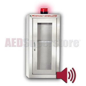 Tall Stainless Steel Cabinet with Audible Alarm and Strobe Light