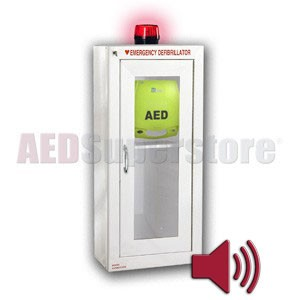 ZOLL® AED Plus® Tall Cabinet with Audible Alarm and Strobe Light