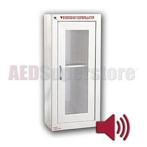 Tall AED Alarm Cabinet with Audible Alarm