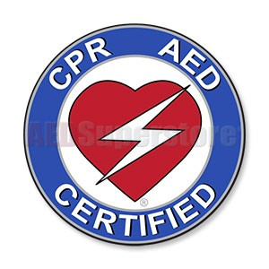 "CPR/AED Round Decal - 2.5"" Diameter"