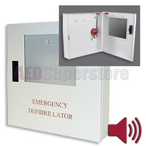 Defibtech Lifeline or Lifeline AUTO AED Wall Mount Cabinet with Audible Alarm