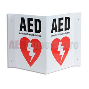 "3-D ""AED"" Wall Sign by Defibtech"