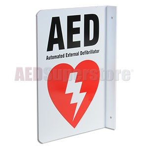 "2-Way ""AED"" Wall Sign by Defibtech"