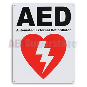 "Defibtech ""AED"" Wall Mount Sign"