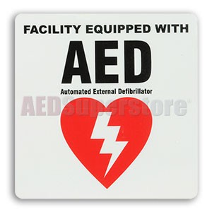 """Facility Equipped"" Sticker by Defibtech"