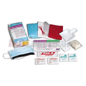 FAO 16 Piece Bodily Fluid Clean-up Pack w/Disposable Tray
