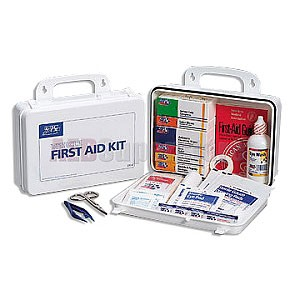 FAO Vehicle First Aid Kit - 93 Piece, Plastic Case w/Gasket