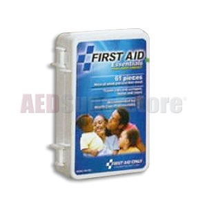 FAO Economy 61 Piece First Aid Kit, w/Durable Plastic Case