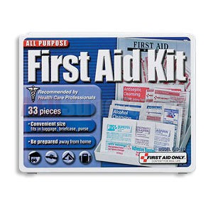 FAO All Purpose First Aid Kit - 33 Piece All Purpose Kit w/Mini Plastic Case