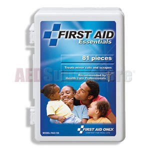 FAO All Purpose First Aid Kit-81 Piece All Purpose Kit, w/Medium Plastic Case