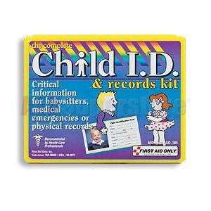 FAO Child I.D. and Records Kit, w/Mini Plastic Case