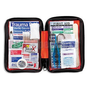FAO Outdoor 107 Piece First Aid Kit, w/Small Soft-sided Case