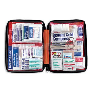 FAO Outdoor 205 Piece First Aid Kit, w/Large Soft-sided Case