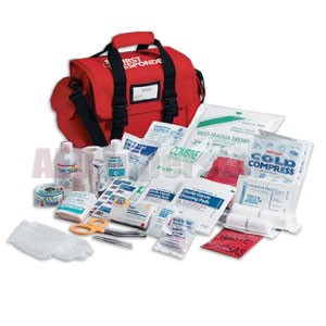 FAO First Responder Kit - 158 piece, Red Cordura Bag w/Handle & Shoulder  Strap