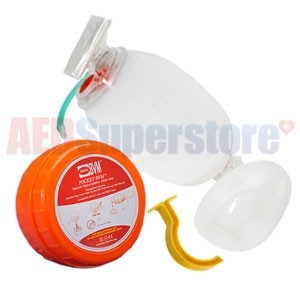Pocket BVM with Medium Oropharyngeal Airway by PerSys Medical - Orange Case