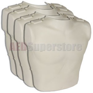 Prestan Replacement Torso Skins for the Professional Adult Manikin (4-Pack)