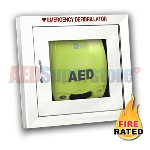 Fire Rated Standard Size AED Cabinet for ZOLL AED Plus