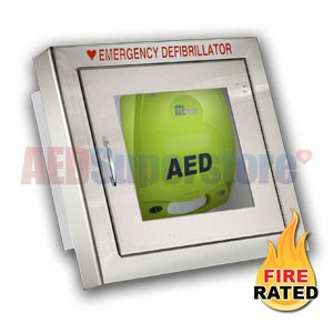 Fire Rated Standard Size Stainless Steel AED Cabinet for ZOLL AED Plus