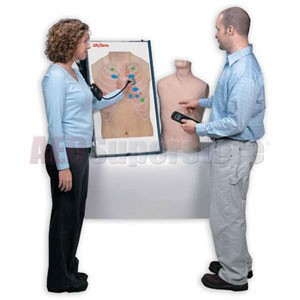 Life/form® Anterior Auscultation Practice Board with Case